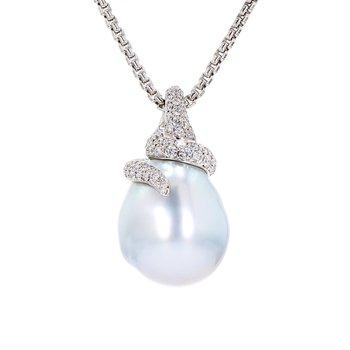 Baroque White South Sea Pearl Pendant