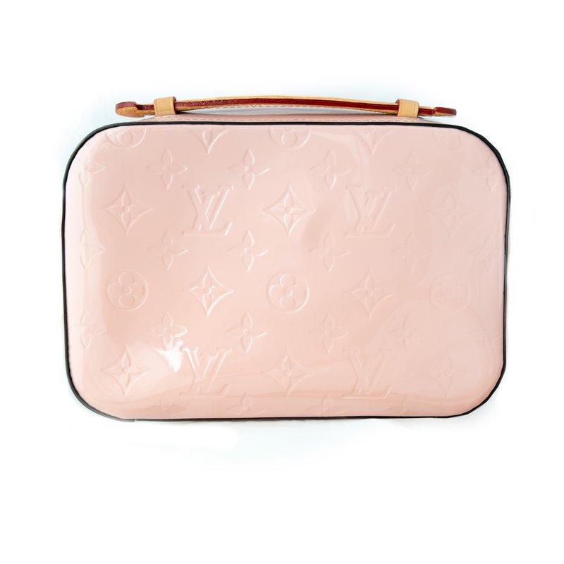 Pre-Owned Luxury Handbags Louis Vuitton Pink Monogram Vernis Santa Monica