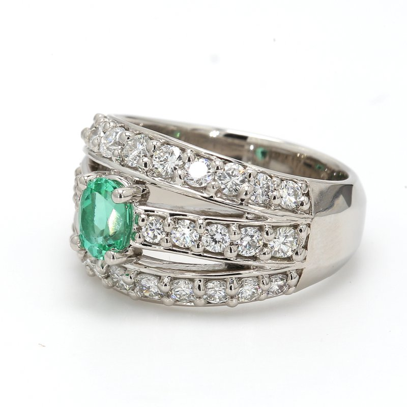 Color by Spicer Greene Multi-Row Tourmaline Ring