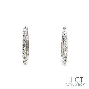 Diamond Hinged Hoop Earrings