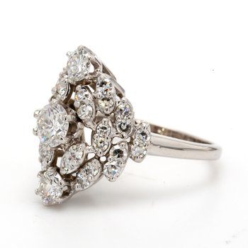 Estate Cluster Diamond Ring