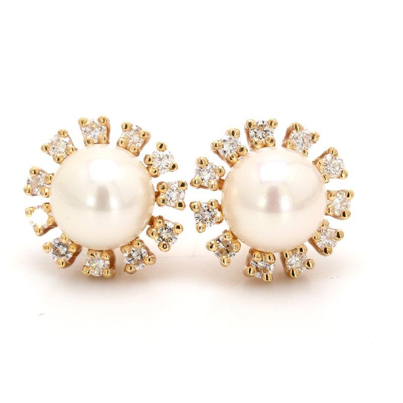 Estate Freshwater Pearl Stud Earrings