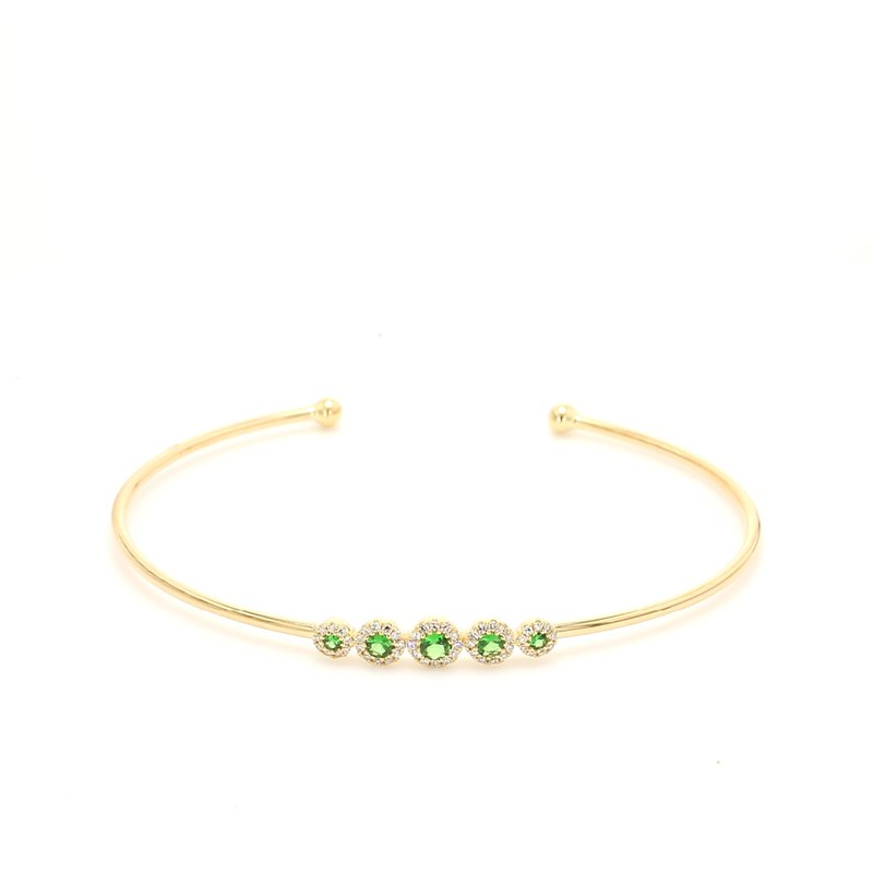 Color by Spicer Greene Garnet Bangle Bracelet