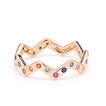 Multi-Colored Stackable Sapphire Ring