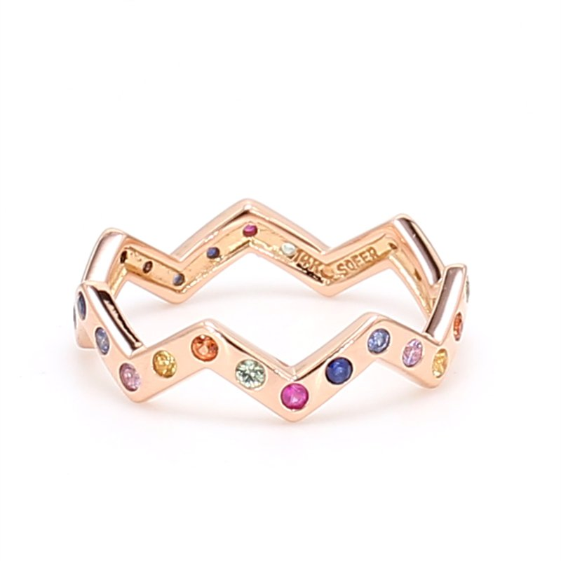 Color by Spicer Greene Multi-Colored Stackable Sapphire Ring