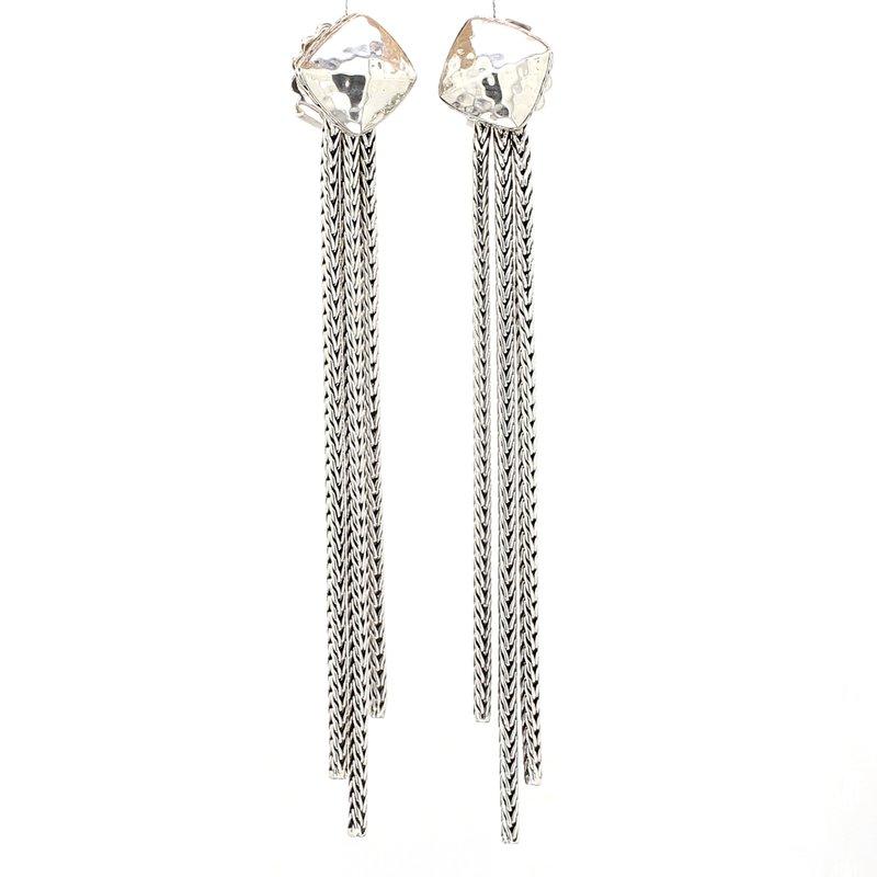 John Hardy Hammered Tassel Earrings