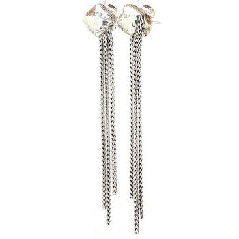 Hammered Tassel Earrings