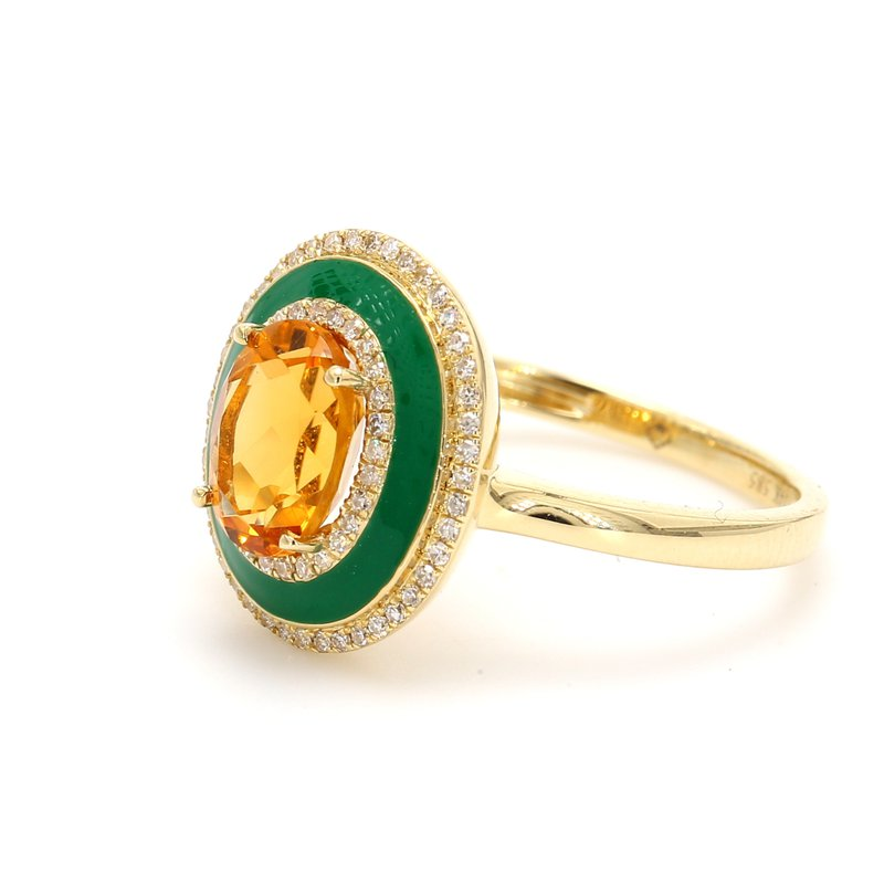 Color by Spicer Greene Citrine Halo Ring