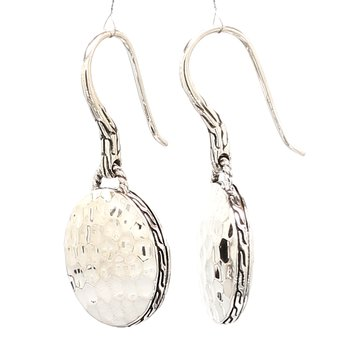 Women's Dot Hammered Silver Ro