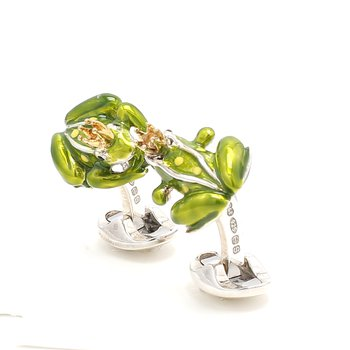 The sterling silver frog with