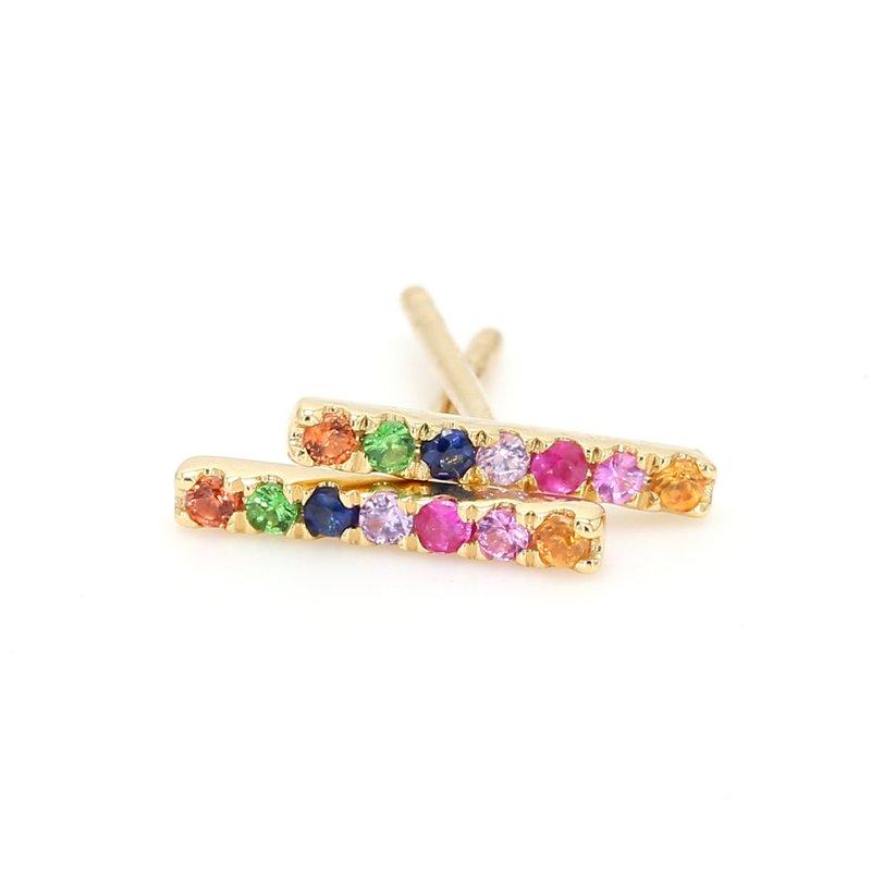 Spicer Greene Rainbow Bar Earrings