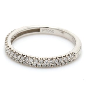 Single Row Diamond Wedding Band