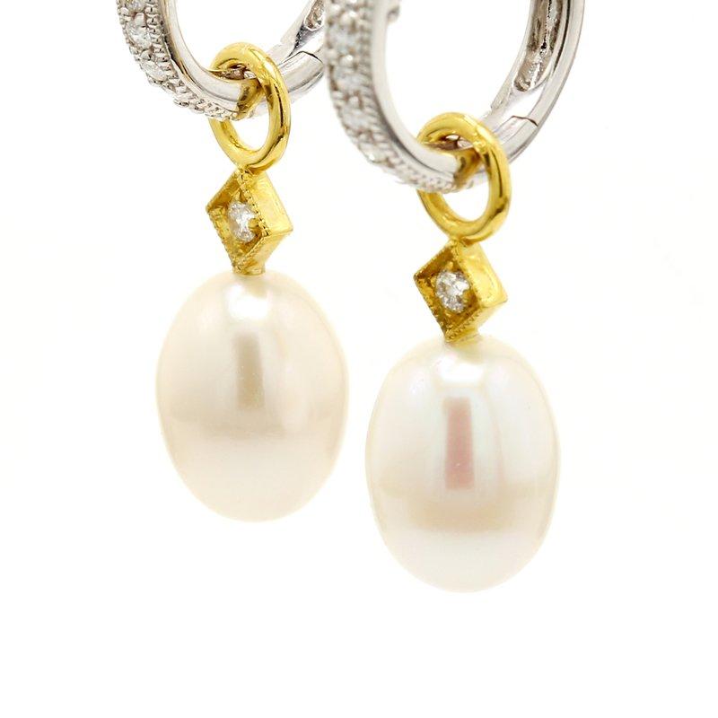 Jude Frances Pearl Ear Charms