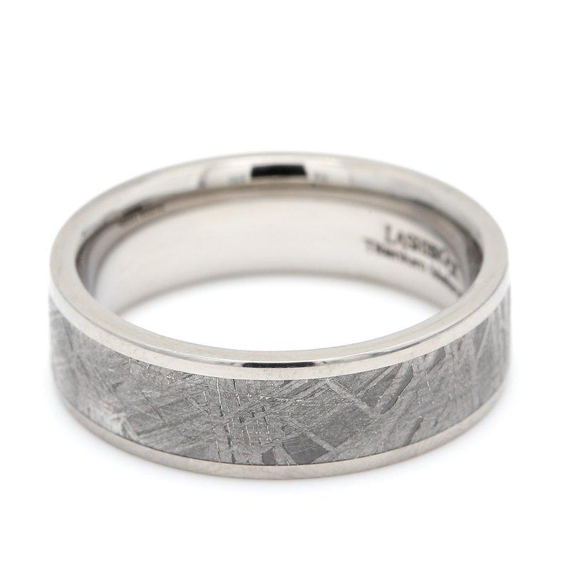 Lashbrook Designs Titanium & Meteorite Wedding Band
