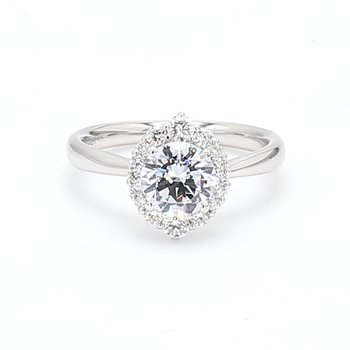Halo Semi Mount Engagement Ring