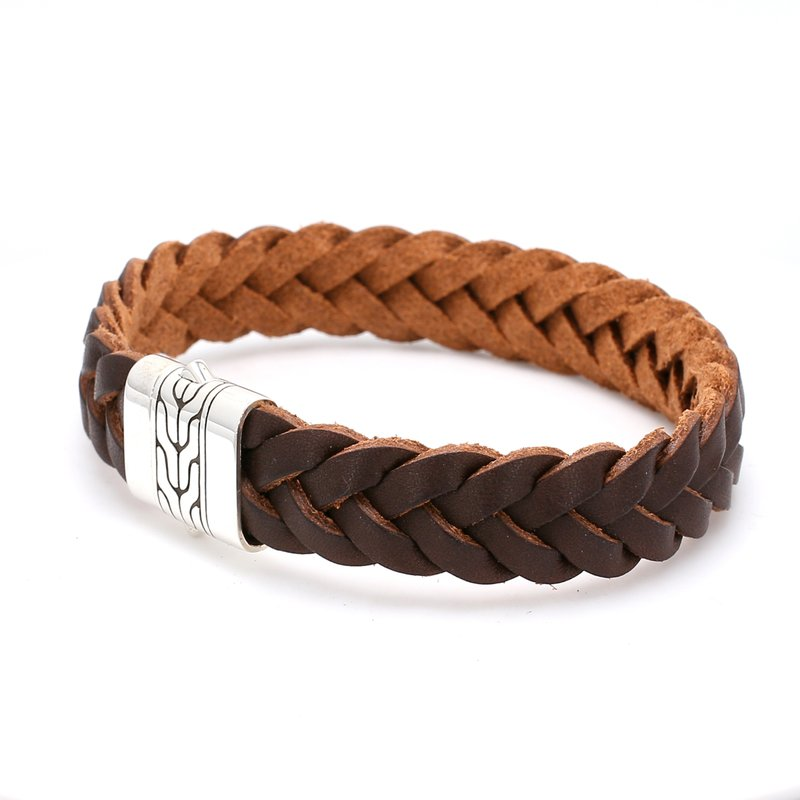 John Hardy Sterling Silver & Leather Bracelet