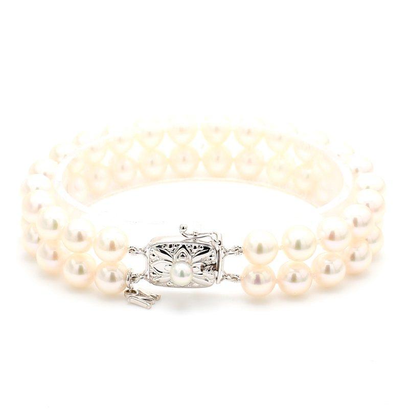 Mikimoto Akoya Cultured Pearl Double-Row Bracelet