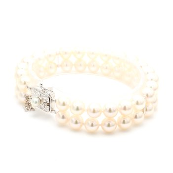 Akoya Cultured Pearl Double-Row Bracelet