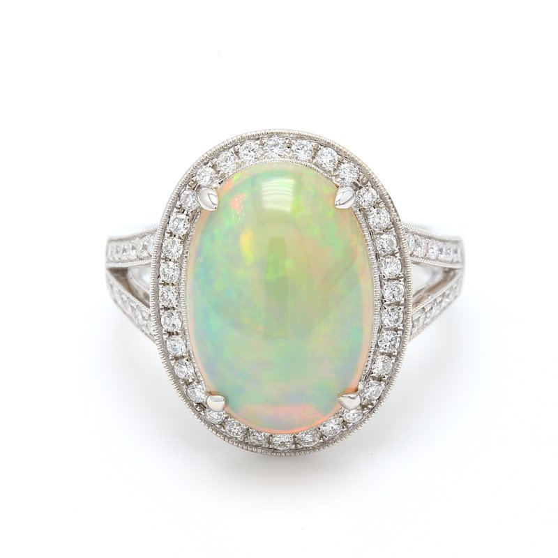 Color by Spicer Greene Classic White Opal Ring