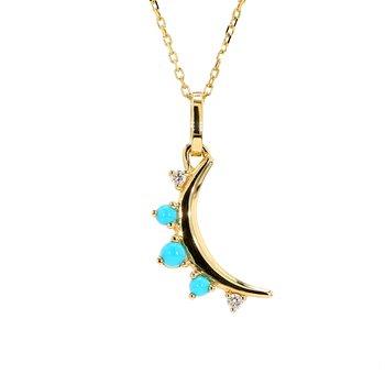 Turquoise Moon Pendant