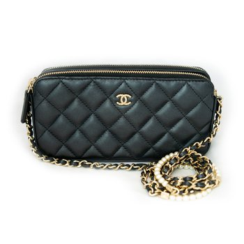 Chanel Double Zip Clutch