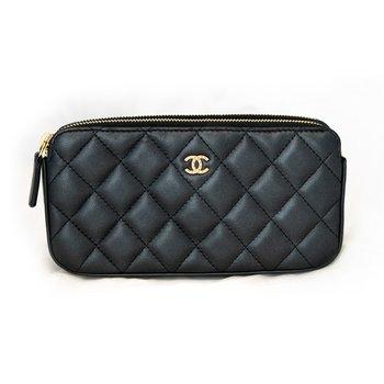 Chanel Double Zip Clutch