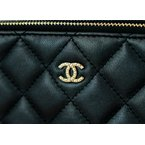 Pre-Owned Luxury Handbags Chanel Double Zip Clutch
