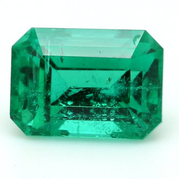 One Emerald Cut Emerald Beryl