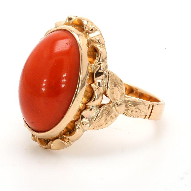Estate Coral Ring