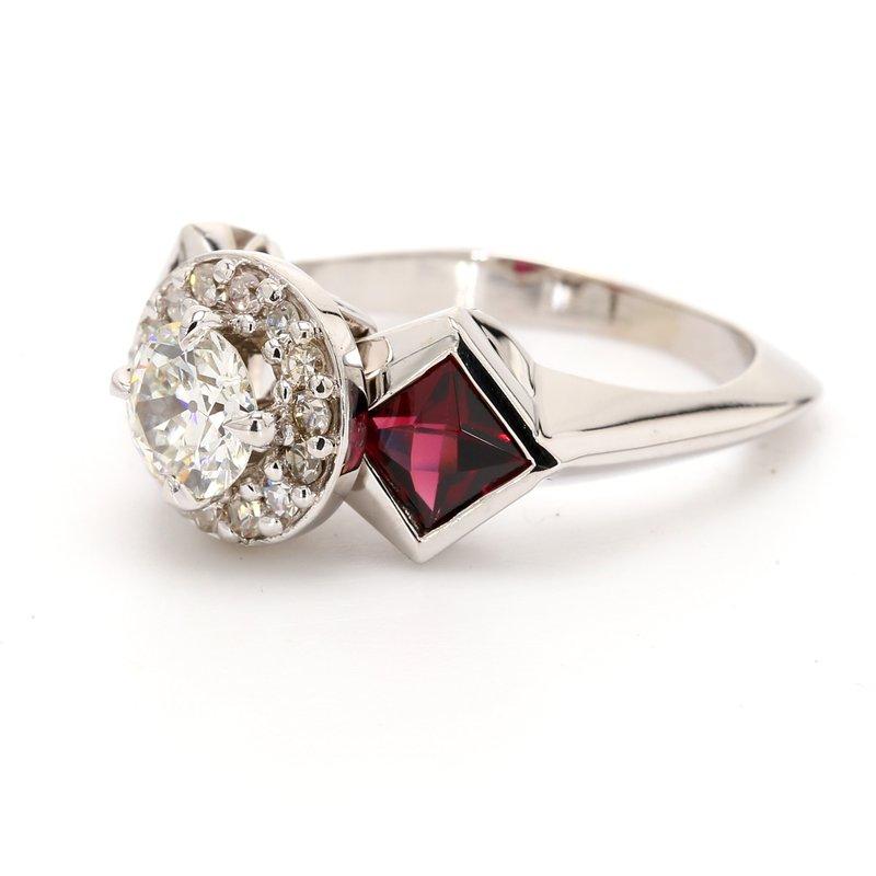 Estate 3 Stone Engagement Ring