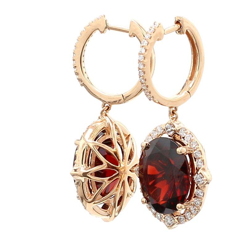 Color by Spicer Greene Garnet Dangle Earrings