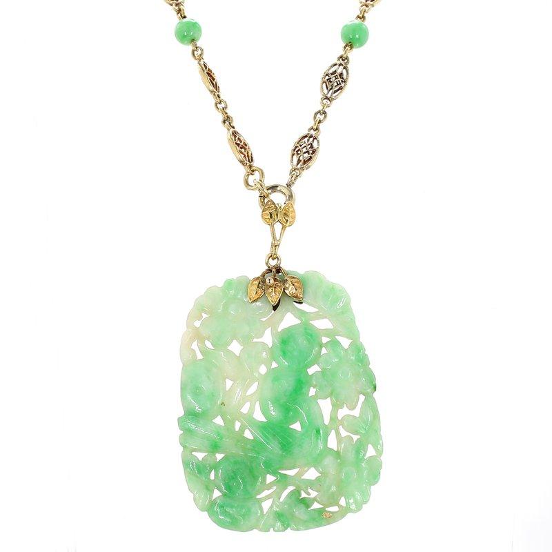 Estate Jade Necklace