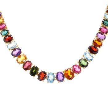 Multi-Stone Fashion Necklace