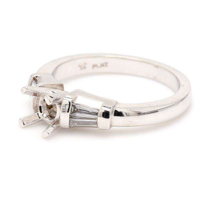 Spicer Greene Platinum Semi Mount Engagement Ring