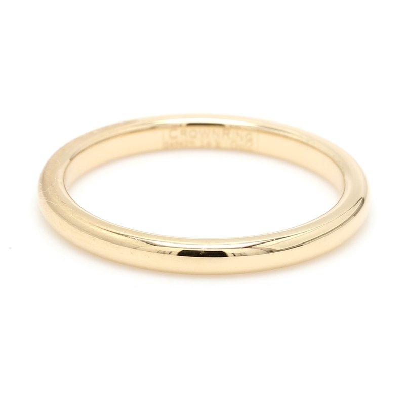 CrownRing 2mm 14 Karat Gold Wedding Band