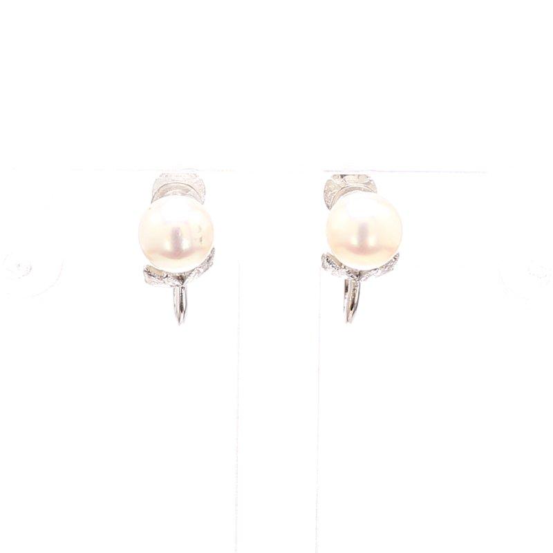 Estate Akoya Cultured Pearl Stud Earrings