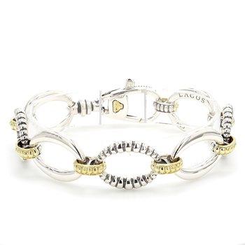 Silver Fancy Link Bracelet