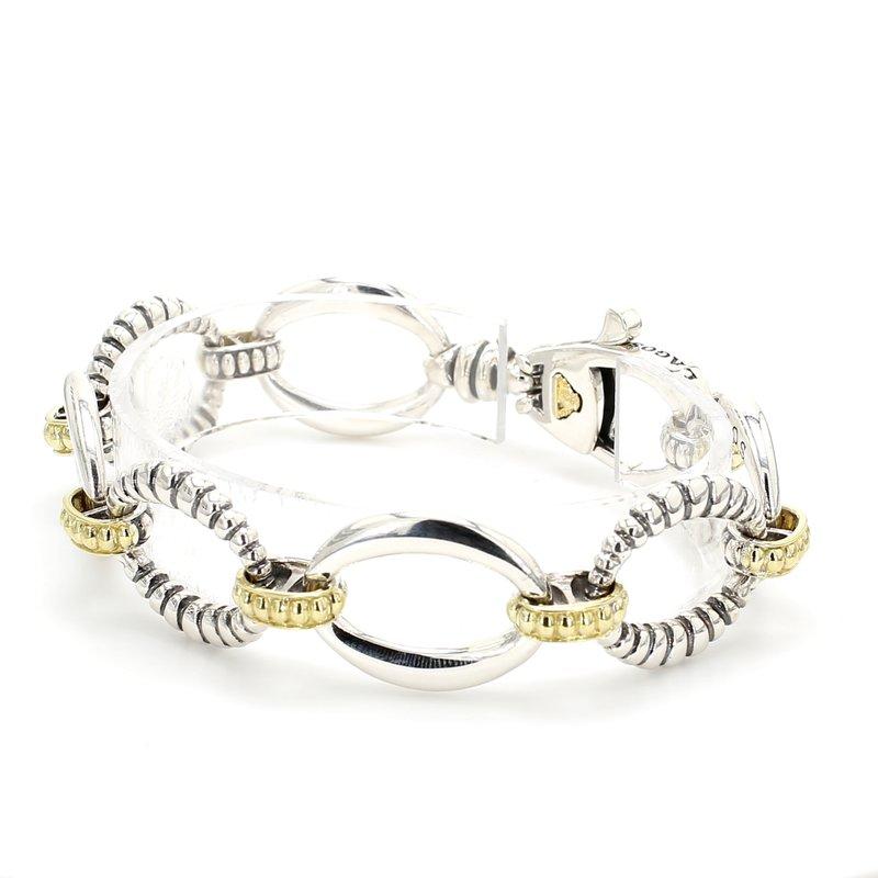 Lagos Silver Fancy Link Bracelet