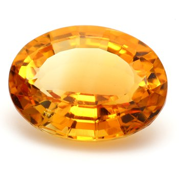 One Oval Citrine Quartz Loose
