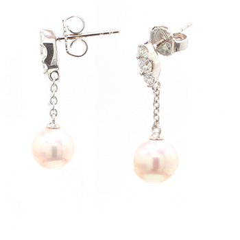 Akoya Cultured Pearl Drop Earrings