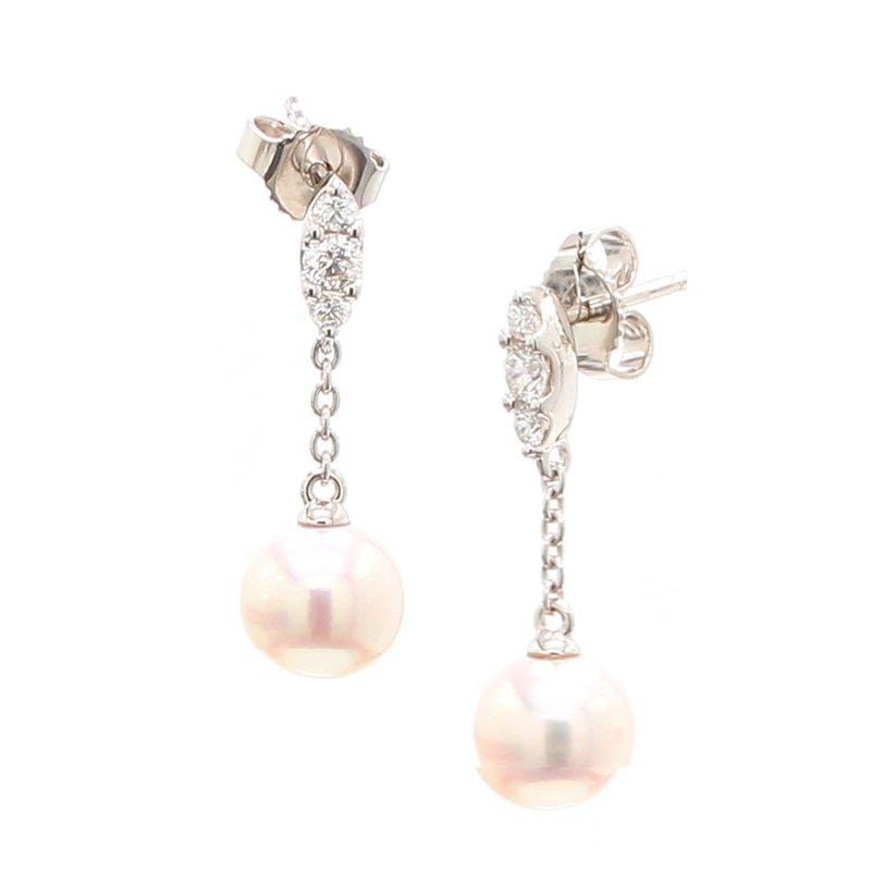 Mikimoto Akoya Cultured Pearl Drop Earrings