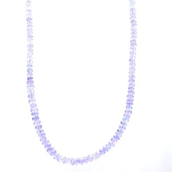 Tanzanite Beaded Strand Necklace