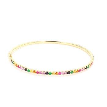 Rainbow Bangle Bracelet