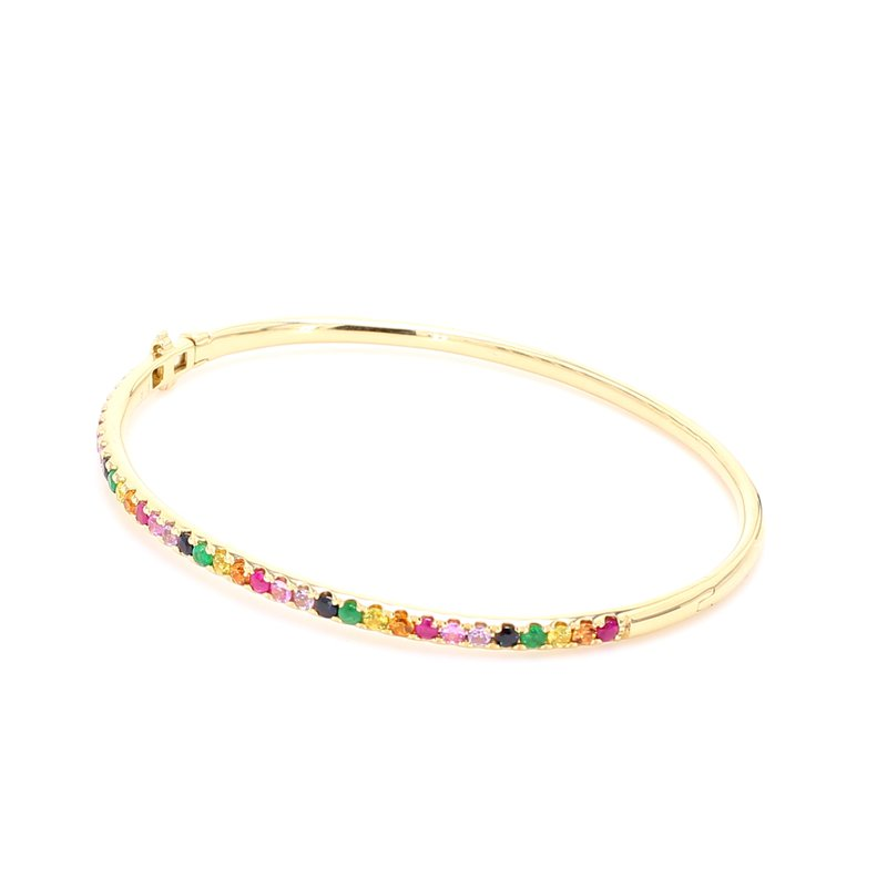 Color by Spicer Greene Rainbow Bangle Bracelet