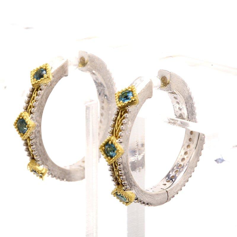 Jude Frances Topaz Hoop Earrings