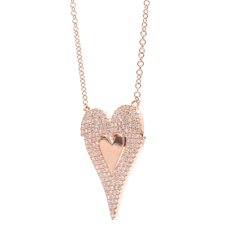 Spicer Greene Diamond Heart Necklace