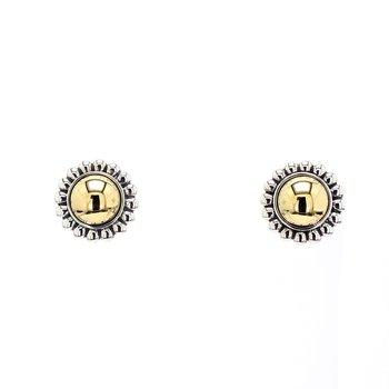 Two-Tone Stud Earrings