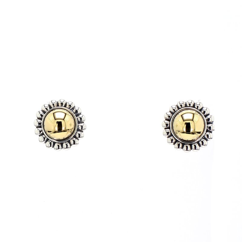 Lagos Two-Tone Stud Earrings