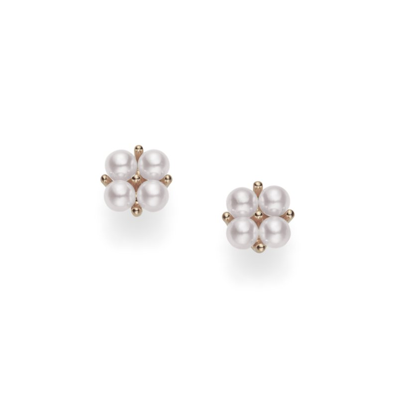 Mikimoto Akoya Cultured Pearl Cluster Earrings