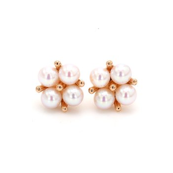 Akoya Cultured Pearl Cluster Earrings
